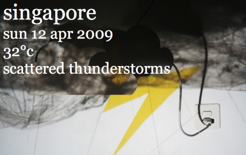 Yikes! Ruggigt väder i Singapore!