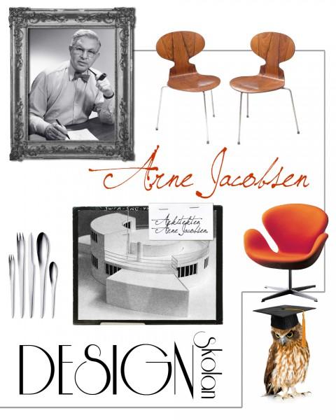 Många designklassiker har det blivit genom åren för Arne Jacobsen, som Myran, Sjuan, Svanen och Ägget.