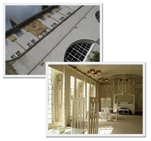 Så här ser House for an Art Lover ut, det är egentligen ett tävlingsbidrag som Mackintosh skickade in till en tävling för sisådär 70 år sen. Han blev diskad, men för ungefär tio år sedan byggdes huset ändå. Se vilket fantastiskt rum!
