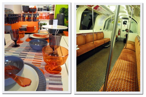 Habitat är nog den affär jag helst vill ska komma till Sverige, utbudet på ROOM räcker inte. I vår är det mycket av en färg som är en korsning av laxrosa och orange på Habitat. Modern design där, mindre modern design i tunnelbanan som är en av Europas äldsta.