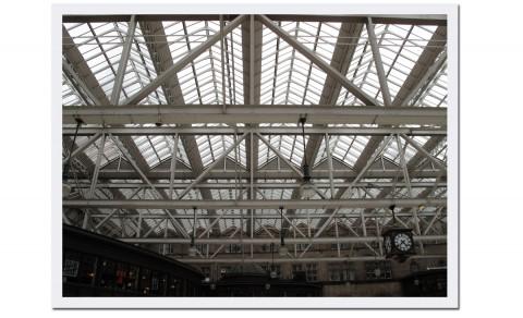 Den vackra stationen i Glasgow föll jag pladask för, det kändes som att befinna sig i en gammal arkivfilm!