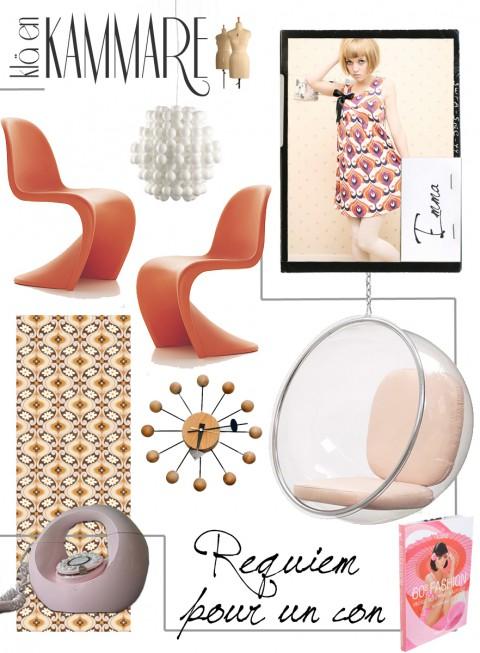 Sextiotal, bubbliga former och karamelliga färger!