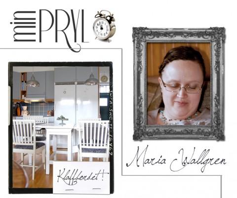 Ett vackert gammalt klaffbord som funnits i släkten i flera generationer är Marias favorit.