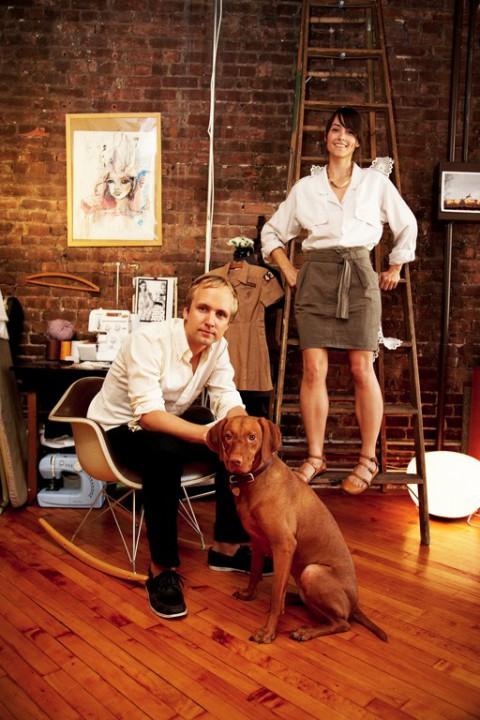Cheri Messerli är stylist och illustratör och David Rager är grafisk designer och musiker. Tillsammans bor de i Soho, New York.