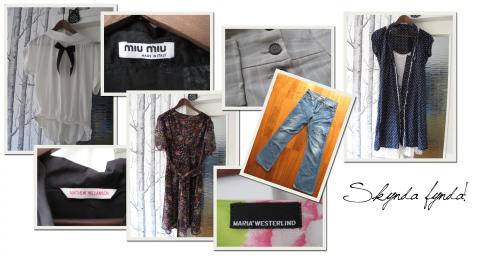 Massor av kläder, Acne, Matthew Williamson, Miu MIu, Carin Wester, Rodebjer...