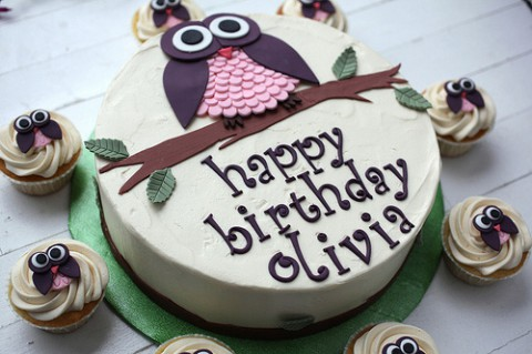 Uggletårta och miniugglor i cupcakesform!