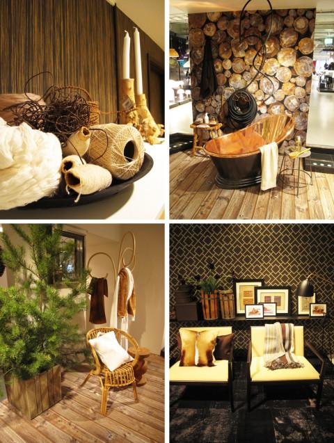 Även den naturella och trärena trenden plockades upp och jag är mycket imponerad av skyltningarna. Vill nu ställa grankvistar i vaser hemma...