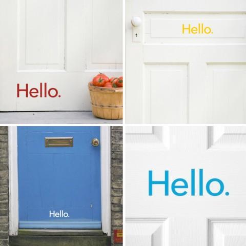 Trevligt sätt att säga välkommen på!