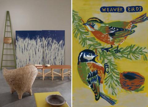 Min favorit: Weaver birds. Den fina illustrationen är gjord av Nathalie L'Été.