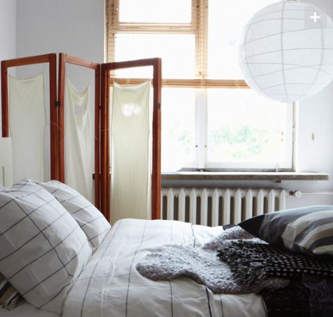 Fräscht sovrum med enkla och billiga medel.