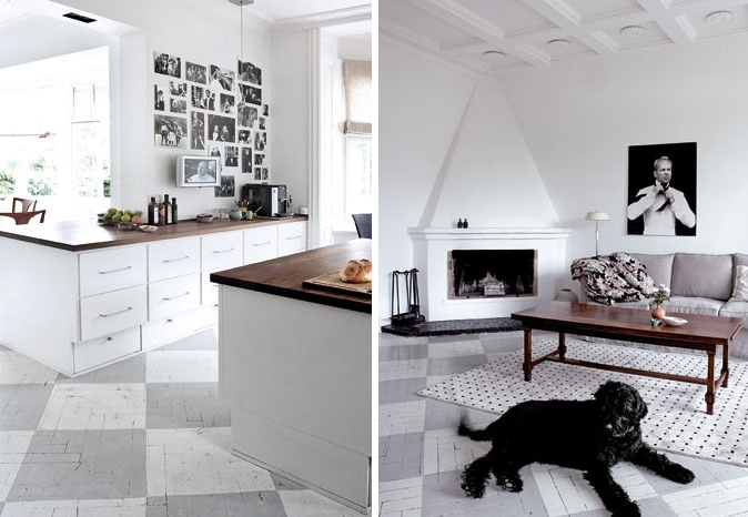 rutiga golv husligheter. Black Bedroom Furniture Sets. Home Design Ideas