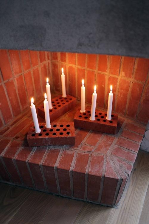 Quick DIY brick candle stick (Annalidstrom.com) – Husligheter.se