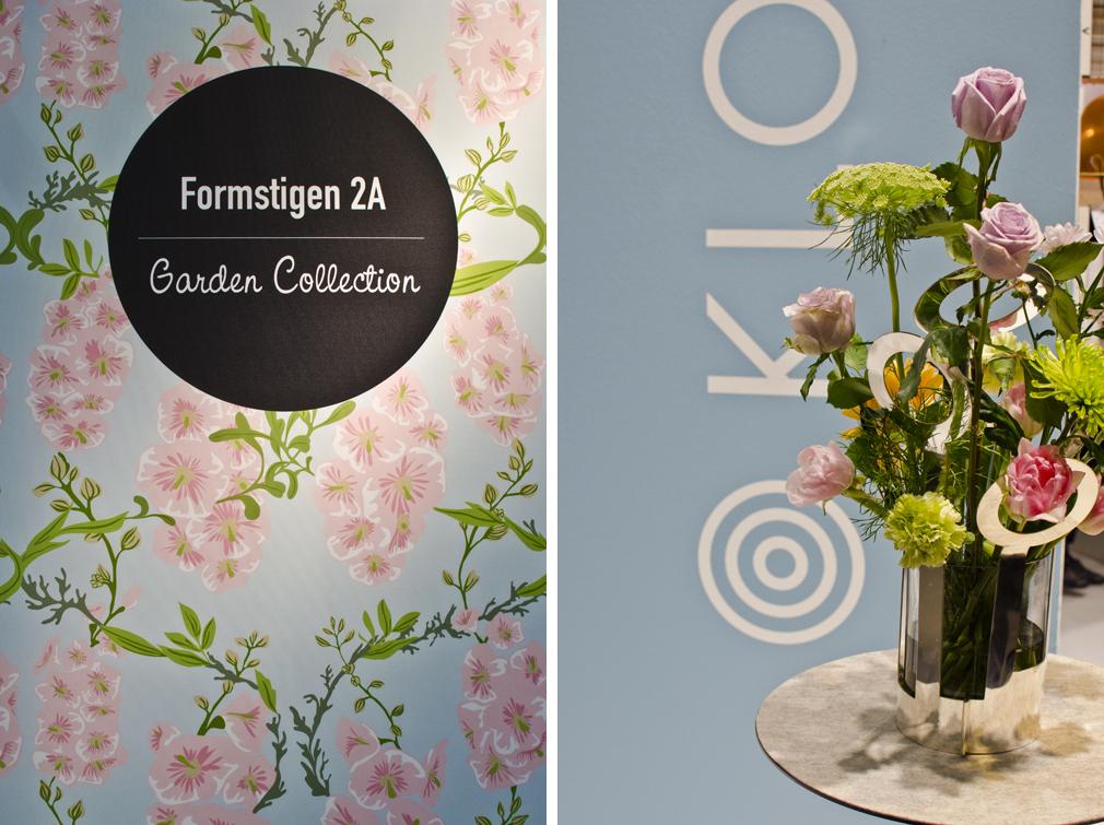 Formstigen 2A ställde ut sin pastelliga Garden collection  i Young designers-delen. Vackra vasen Fanny av Ami Katz för Klong vann Formidablepriset.
