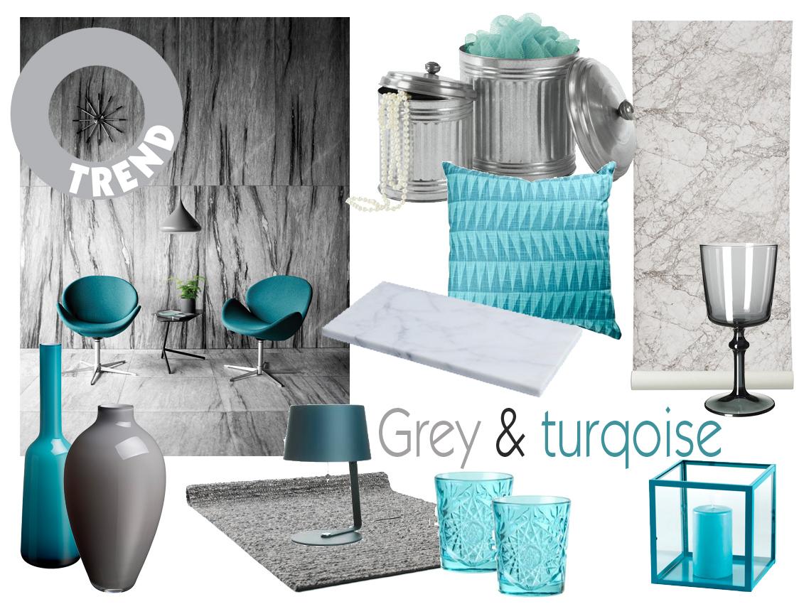 Trend: grey and turquoise   trender   husligheter