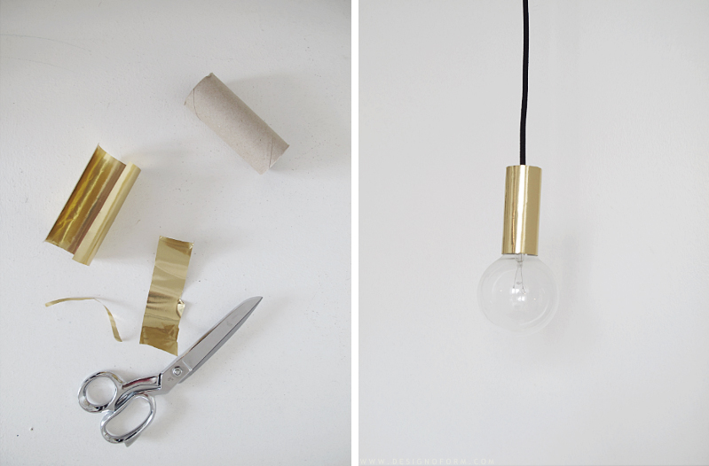DIY lamp on a budget (via Designoform) – Husligheter.se