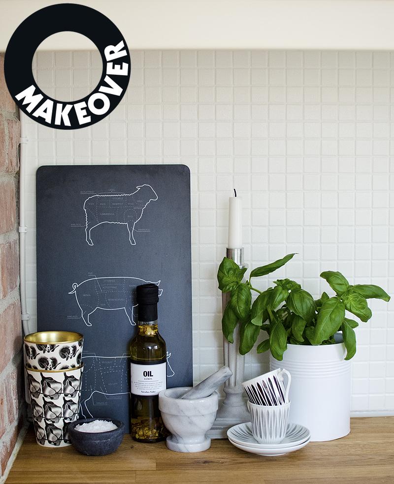 Numera vit mosaik i köket. Foto: Maria Soxbo/Husligheter.se