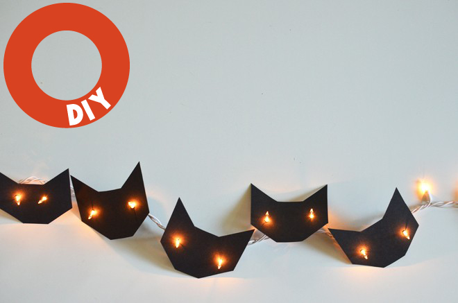 DIY cat lights for Halloween (via Remodelista) – Husligheter.se