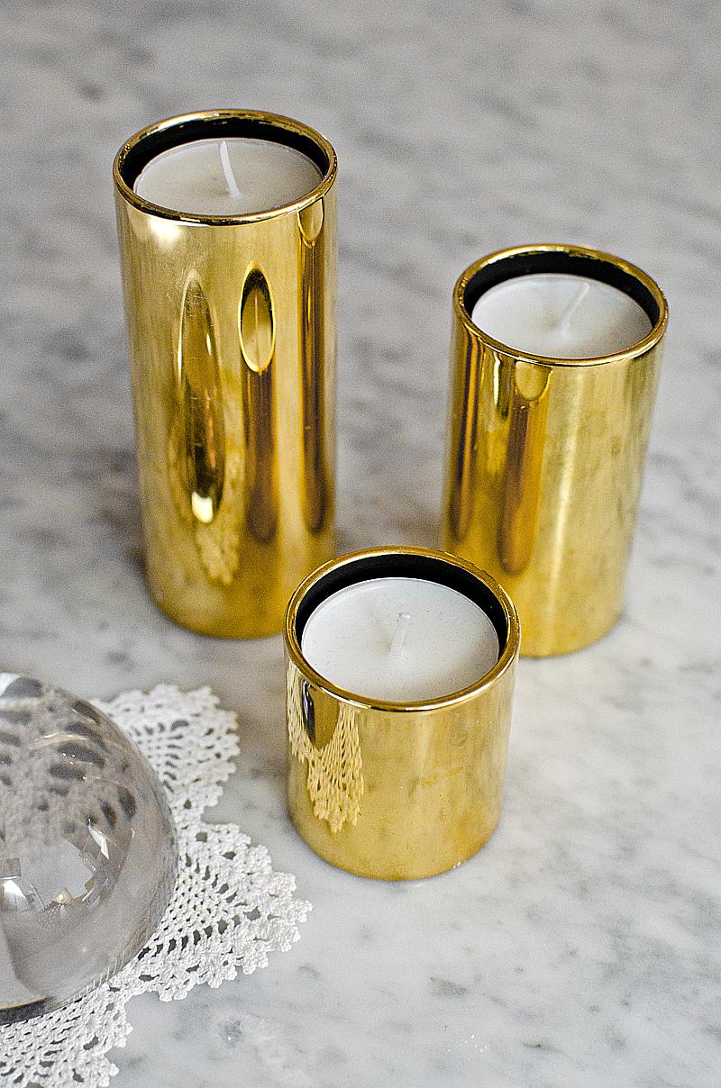 Vändbara vintageljusstakar. Foto: Maria Soxbo/Husligheter.se