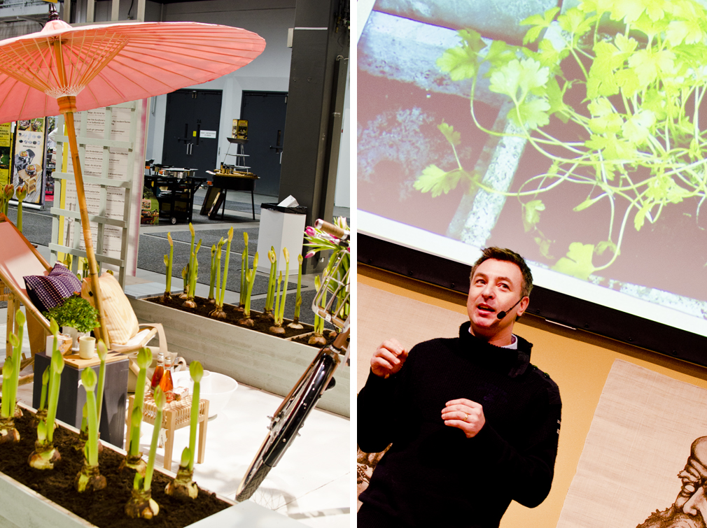 Tareq Taylor håller föredrag under förra vårens Formex i Oddbirds kafé. Foto: Maria Soxbo/Husligheter.se