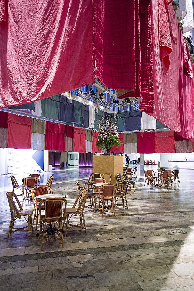 Himlas vilsamma lounge på entrétorget under Formex. Foto: Maria Soxbo/Husligheter.se