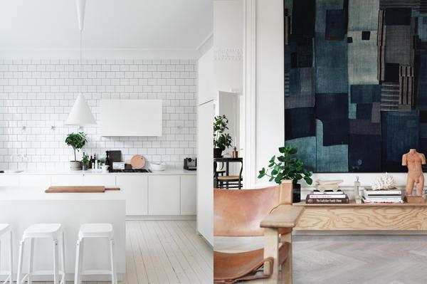 Två hemma hos-bilder från Lotta Agatons fina hem. Foto: Petra Bindel för Åhléns.