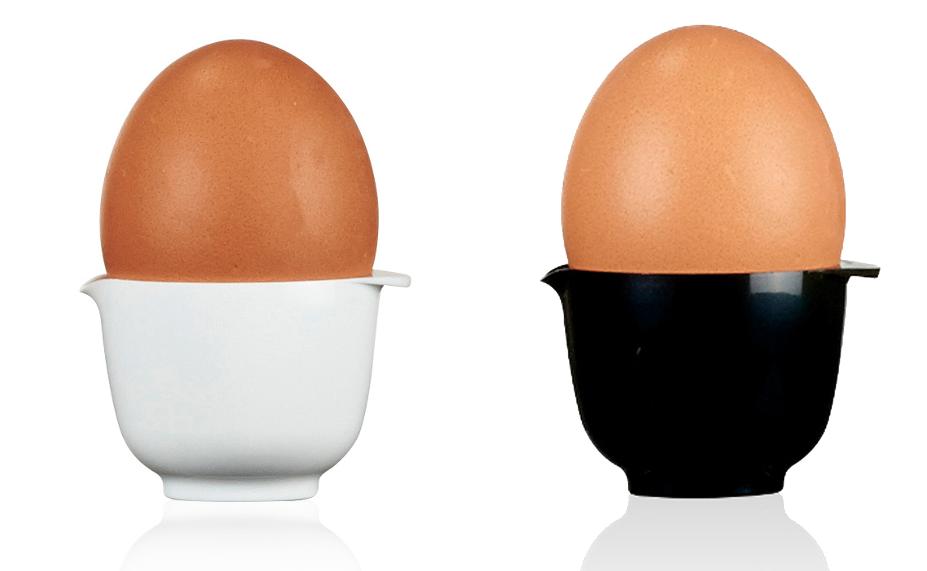 Klassiska Margretheskålen som äggkopp. Foto: Pressbild Rosti Mepal