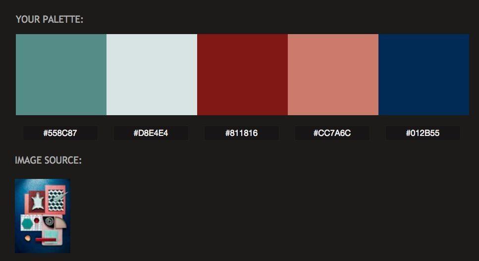 Moodboard färgpalett Pictaculous – Husligheter