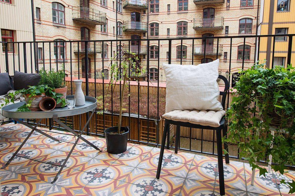 Marockansk klinker på balkongen. Inspiration via Alvhem – Husligheter