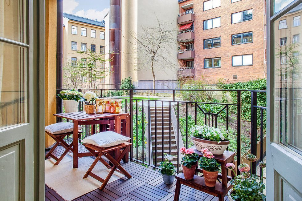 Pallar på balkongen. Inspiration via Bjurfors – Husligheter