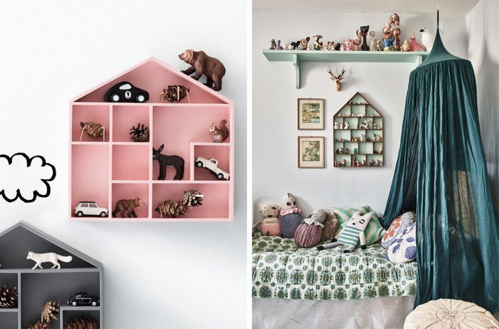 Prylhylla från H&M Home i barnrum – Husligheter