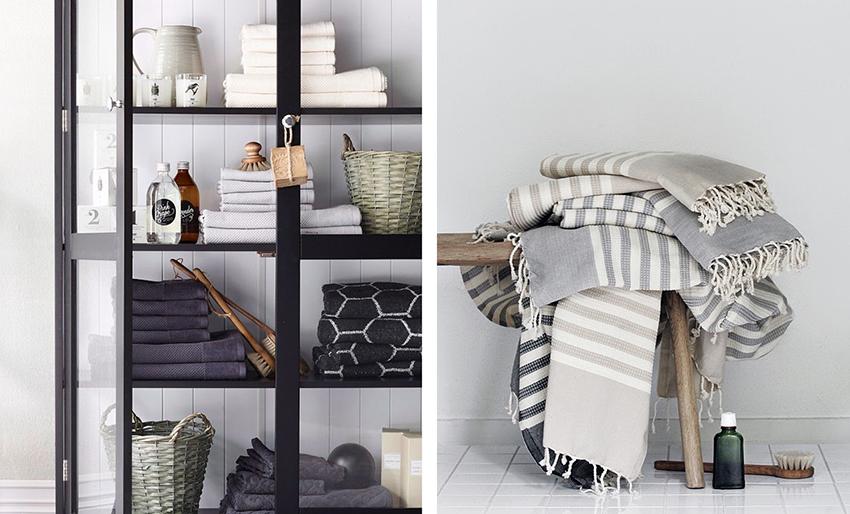Badrumstextilier, snygga handdukar och hammamhanddukar – Husligheter