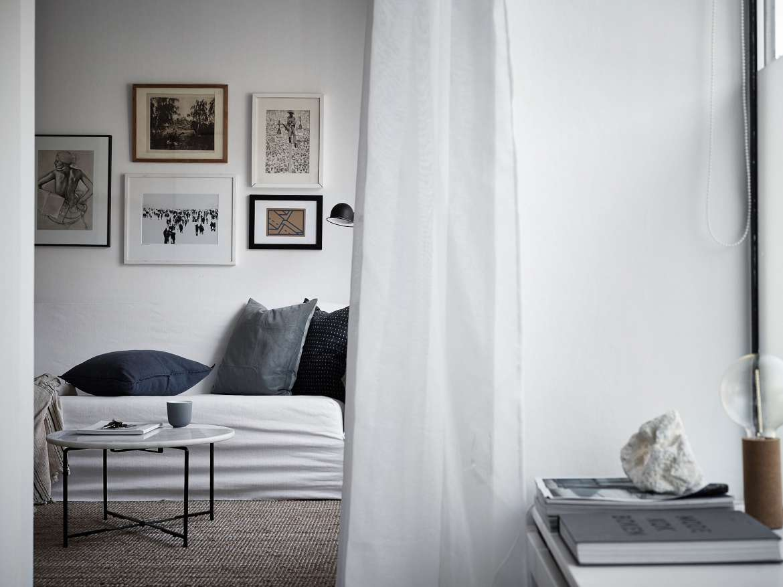 Mörkblått i lägenhet från Historiska hem – Husligheter