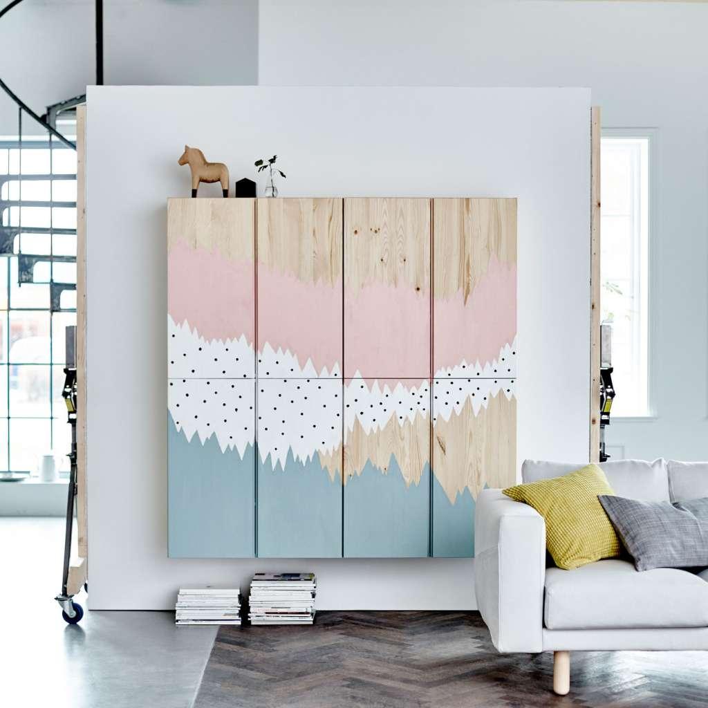 Ivar från IKEA, måla mönster med pastellfärger – Husligheter