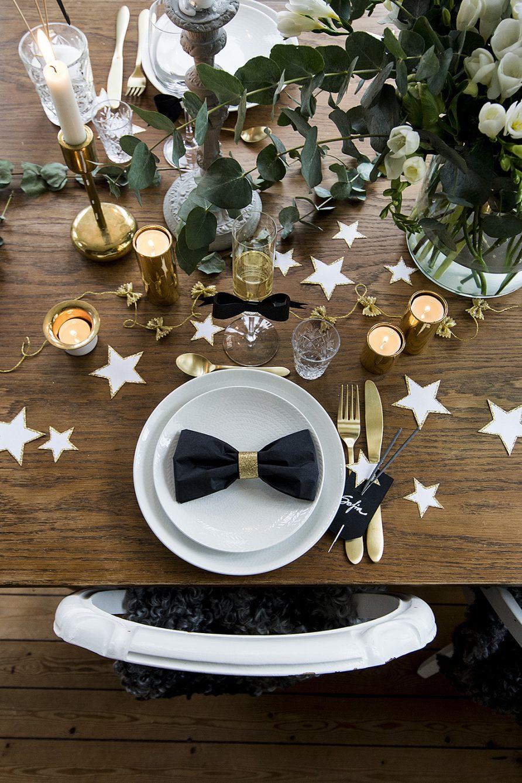 Nyårsdukning vika fluga av servetten – Husligheter