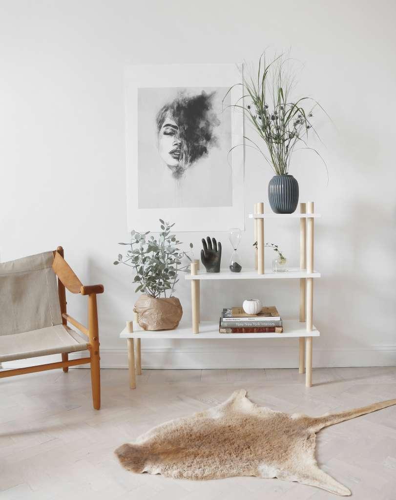 DIY bokhylla av rundstav från Hemmafixbloggen – Husligheter