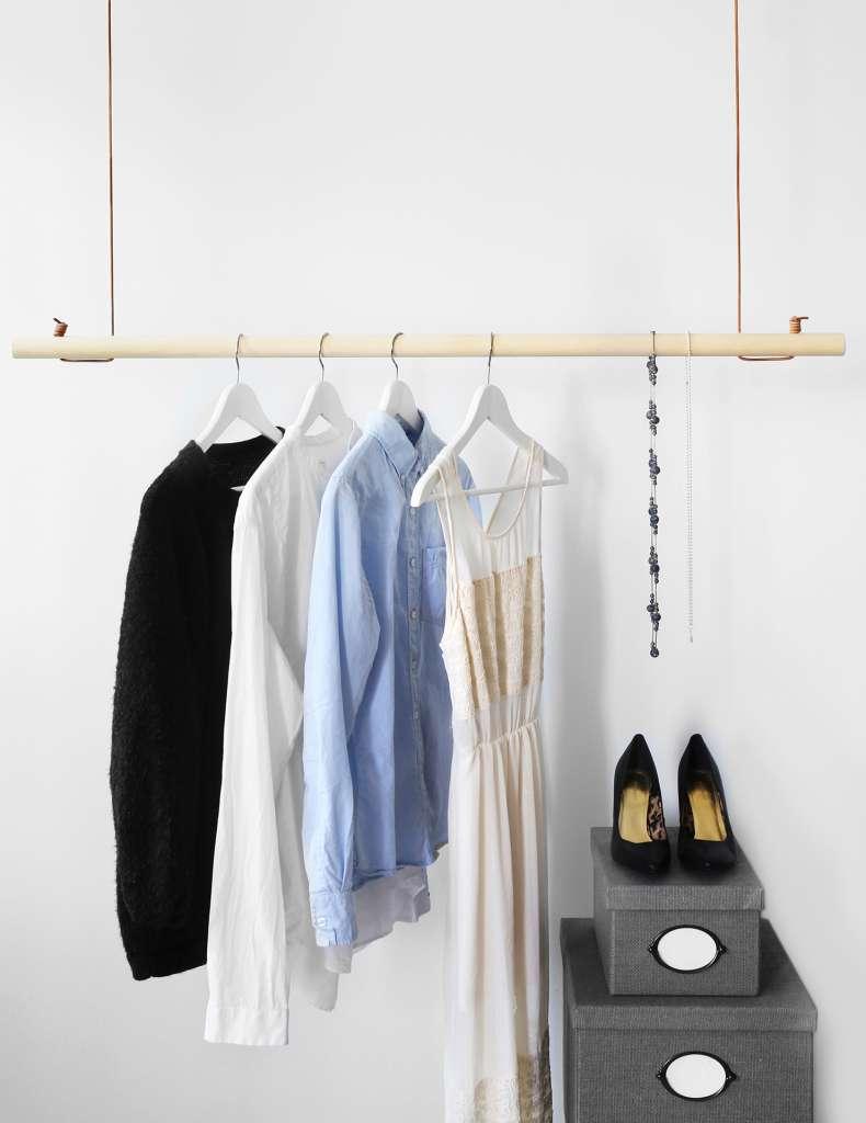 Klädhängare av rundstav och läder – Hemmafix – Husligheter
