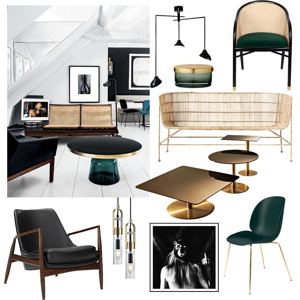 Sno stilen – rotting, gröna detaljer och svarta accenter