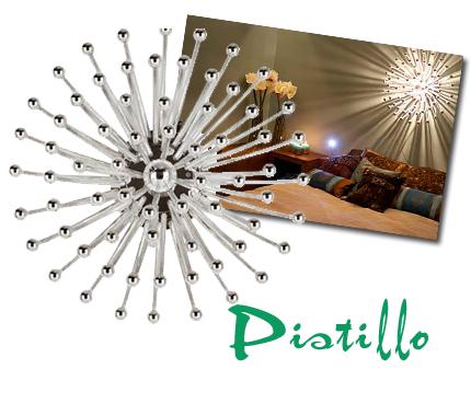Pistillo av italienska Studio Tetrach är ytterligare en drömlampa, som Roomservice hängde ovan en säng i ett avsnitt i vintras (bilden). Ligger på ca 4 500-5 000 kronor.
