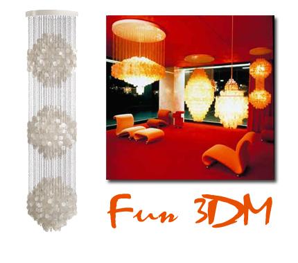 Ytterligare en Verner Panton-lampa får vara med på listan, Fun-lamporna finns i många varianter men min favorit är 3DM som hänger i tre våningar så att säga. Svinbillig, bara 60 000 kronor...