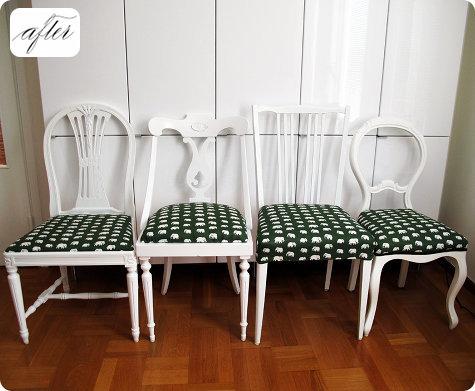 Mina stolar blev extra glada över att få synas hos Design*sponge också.