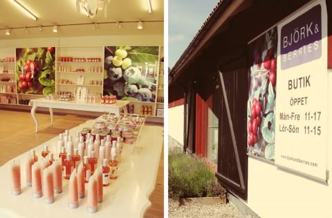Björk & Berries. Vi var bara inne i butiken, men det finns också en doftverkstad att besöka.