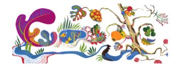 Googles logga när Josef Frank firade 125 år.