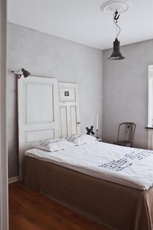 Vackert sovrum med budgetsänglinne från H&M Home.