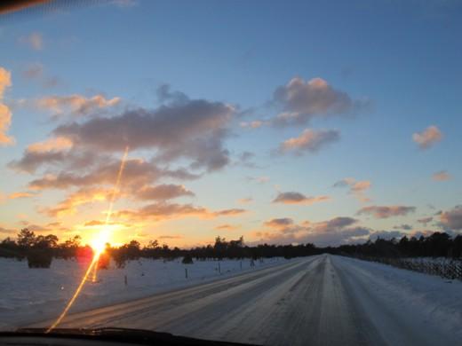 Finaste himlen på väg mot Visby.