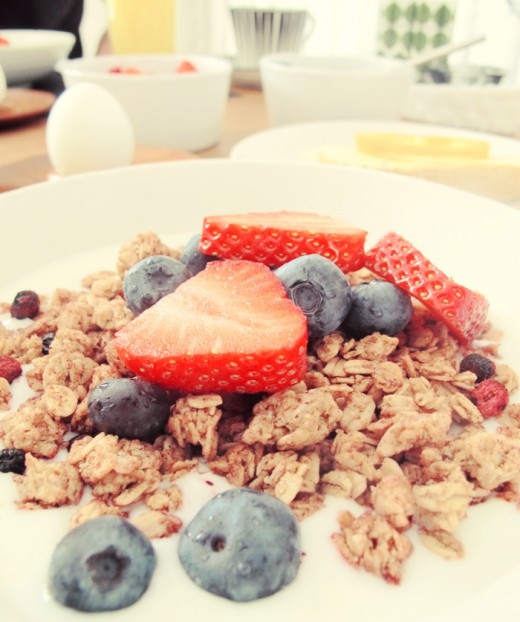 Lite extra lyxig frukost.