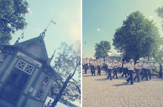 Det var nämligen Ångans dag i Mariefred igår, så orkestrar spelade och en och annan gick runt i tidstypiska kläder från förra sekelskiftet (= varmt!).