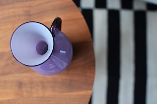 Den här lila skönheten är till salu. Foto: © Maria Soxbo/Husligheter.elle.se