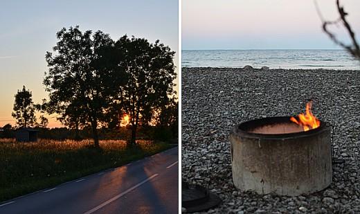 """Vägen förbi vår lilla gata och """"vår"""" strand. Foto: Maria Soxbo/Husligheter."""