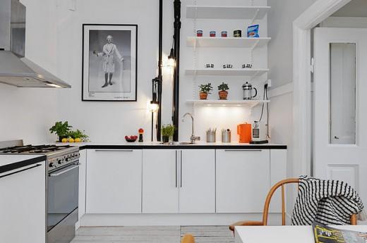 Vira hängande lampor för en annorlunda belysning i köket.