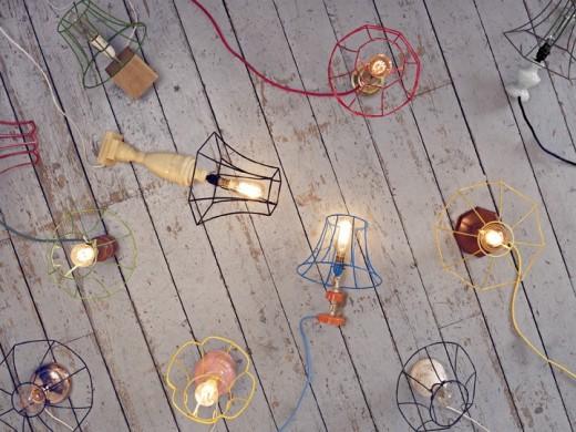 Donna Walkers Skeleton lamps.